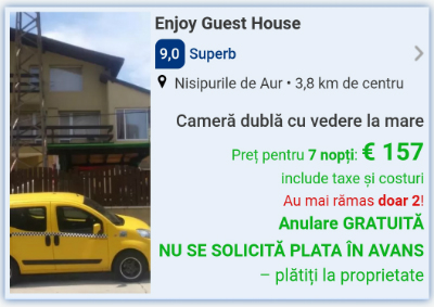 cazare ieftina early booking bulgaria 2019 nisipurile de aur enjoy guest house