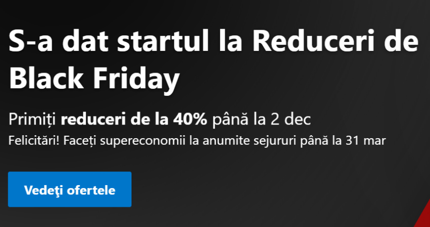 Black Friday Booking